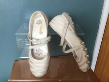 SKETCHERS LIGHT BEIGE LEATHER AND TEXTILE UPPER SHOES SIZE (6)(39)...