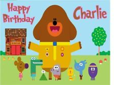 PERSONALISED HEY DUGGEE BIRTHDAY CAKE TOPPER A4 ICING SHEET anyNAMEage