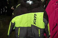 2016 FXR Youth size 8 snowmobile jacket with FAST flotation black / yellow WARM