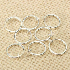 10PCS Punk Clip On Fake Nose Lip Hoop Rings Earrings Silver Body Piercing