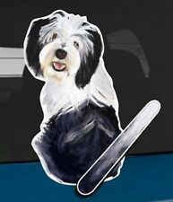 Polish Lowland Sheepdog Dog rear window wiper sticker - 10 inches tall