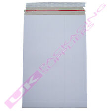 200 A5 C5 WHITE BOARD SELF SEAL MAILERS ENVELOPES 162 x 229mm 350gsm TEAR STRIP