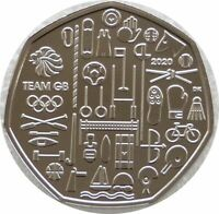 2020 Royal Mint Tokyo Olympic Games Team GB 50p Fifty Pence Coin Uncirculated