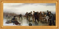 Curling, a Scottish Game, at Central Park John George Brown Eis Sport B A3 02638