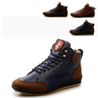 Mens Casual Oxford Leather Shoes Ankle Boots Lace Up Loafers Flats Shoes Sneaker