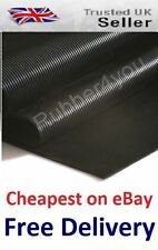 Cheapest AntiSlip FINE Ribbed Rubber Flooring Protection Matting 1.2m wide x 3mm