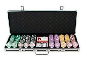 Poker Premium Stripes Koffer 500 HIGH Stack Turnierchips Casino Kofferset