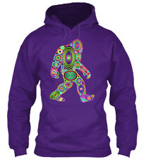 Colorful Bigfoot Gildan Hoodie Sweatshirt