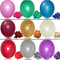 100stück……Perlglanz Latex Luftballons Feier Party Hochzeit Geburtstag Deko Neu
