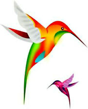 20  WATER SLIDE NAIL ART  DECAL TRANSFERS COLORFUL HUMMING BIRDS