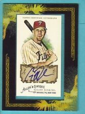 2008 Topps Allen and Ginter Geoff Jenkins Autograph Phillies