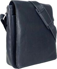 UNICORN Real Leather iPad, Kindle, Tablets & Accessories Messenger Bag Black #1E