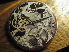 Tavannes Skeleton Collection Silver Watch Advertisement Pocket Lipstick Mirror