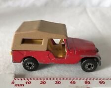Vintage Red Matchbox Superfast 1970 #53 Jeep CJ6 Made in England Diecast Toy Car