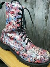 Mens Rare Vtg Getta Grip by Dr. Martens London Steel Toe Boots UK 8 US 9