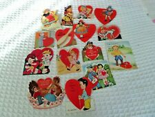 15 Vtg Assorted Valentines Fold outs Standing mechanical Brush Dutch Phone Russi