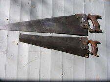 TWO VINTAGE HAND SAWS-DISSTION-J.TAYLOR AND SON