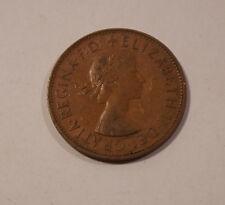 ONE PENNY ENGLAND von 1965 Elizabeth II Great Britain England Münze (A3)