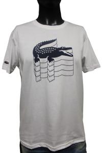 NEU LACOSTE T-Shirt Shirt Größe S-XL weiß
