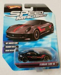 HOTWHEELS 1/64 SPEED MACHINES Ferrari 599xx Speed Machines Hot Wheels * Black *