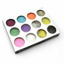 New-12 Colours Nail Art Glitter Tips Decoration Dust Set Kit for UV Gel Acrylic
