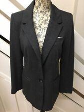 Ladies WALLIS Charcoal Grey Smart Blazer  Jacket Size 10 UK