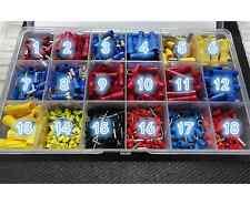 475pcs Insulated Terminals  99 UK Connectors Ring Crimp Wire Bullet Set Box