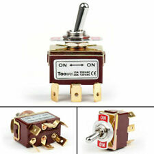 4x Toowei 2 Terminal 6pin On On 15a 250v Toggle Switch Boot Dpdt Grade F1