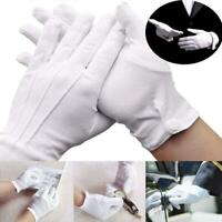 Adult White Formal Gloves Men Tuxedo Guard Parade Santa HOT Inspection W9Y2