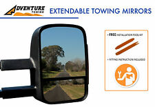 ADVENTURE TOWING EXTENDABLE MIRRORS HOLDEN COLORADO RG 06/12-ON WITH SIGNALS BLK