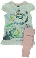 Girls Disney Tinker Bell T Shirt Top & Leggings Set Age's 2-5 Years NEW