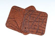 "Cinnamon Stone Craft Scrap Leather Piece 4.5"" x 4.5""  TD42"