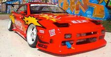 1/10 RC Car Body Shell NISSAN 180SX DRIFT BODY W/ Light Bucket -CLEAR UNPAINTED