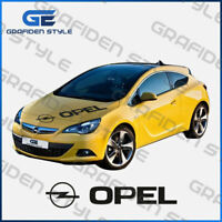 1 stück - OPEL LOGO - Auto Motorhaube Aufkleber - Car Sticker- L 120cm !