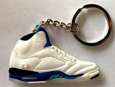 b10524c41199 AIR JORDAN V 5 RETRO STEALTH WHITE BLUE SUPREME OG SNEAKERS SHOES KEY CHAIN  RING
