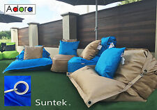 Bean Bags 4 piece set +2 Free Cushions Resort Style Adora Fade resistant 5