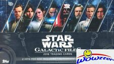 2018 Topps Star Wars Galactic Files Factory Sealed HOBBY Box-2 HITS w/AUTOGRAPH
