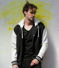 Zip Waist Length Cotton Baseball Coats & Jackets for Men