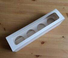 25 Cupcake Muffin Box 4er LANG Aufbewahrungsbox Geschenkbox Karton Verpackung