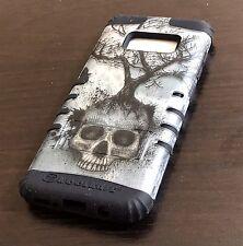 For Samsung Galaxy S8+ PLUS -Hybrid Shockproof Armor Phone Case Green Skull Tree