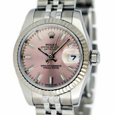ROLEX - 26mm White Gold & Stainless Datejust Pink Index Dial 179174 - SANT BLANC