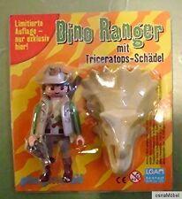 Playmobil - Dino Ranger mit Triceratops Schädel - OVP - Neu - Limitiert - Figur