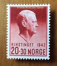 EBS German-occupied Norway Norge 1942 Vidkun Quisling MNH**