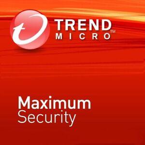 Trend Micro Maximum Security 2021  1 ou 3 Appareils - 1 ou 3 Ans FR