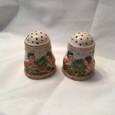 Vintage Salt And Pepper Shakers Ceramic Italy Children