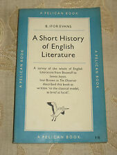 Vintage Book Of A Short History Of English Literature, By B. Ifor Evans - 1951