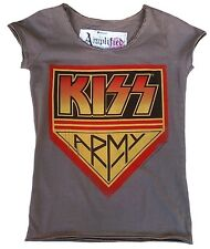AMPLIFIED Official KISS ARMY Logo Rock Star Vintage Designer ViP T-Shirt g.S 36