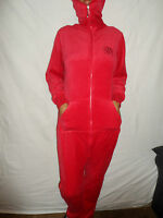 WOMANSLADIESWARMCOSY WINTER ONE PLAYSUIT RED SIZES 8/10 & 12/14 GENEROUS FIT!