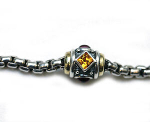 DAVID YURMAN NEW Renaissance  Silver 18K Citrine/ Garnet Necklace