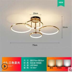 Circular Ring Pendant Light Aluminum LED Chandelier Ceiling Hanging Lamp